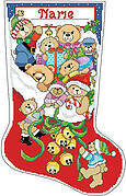 Jingle Bear Christmas Stocking - Cross Stitch Pattern