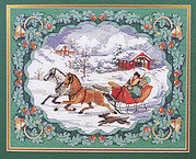 To Grandmother's House We Go Christmas Cross Stitch Pattern