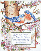 Bluebirds - Cross Stitch Pattern