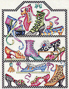Antique Shoe Collection - Cross Stitch Pattern