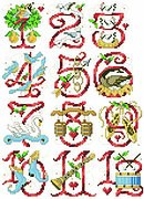 Twelve Days of Christmas Ornaments - Cross Stitch Pattern