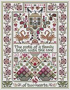 Love of Two Hearts, The - Cross Stitch Pattern