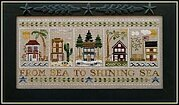 From Sea to Shining Sea Border Chart - Cross Stitch Pattern