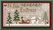 North Pole Express - Cross Stitch Pattern