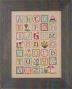 Summer Alphabet (with Embellishments) - Cross Stitch Pattern