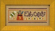 Halloween Rules Wear a Costume/Eat Candy - Cross Stitch
