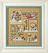 6 Snow Belles - All Dressed Up - Cross Stitch Pattern