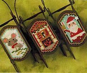 Night Before Christmas Sleds - Cross Stitch Pattern