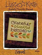 Grateful Thankful Blessed - Cross Stitch Pattern