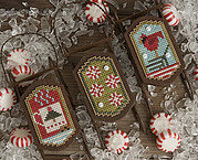 Peppermint Sleds - Cross Stitch Pattern