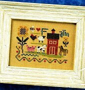 Flora McSample Farm Sampler - Cross Stitch Pattern