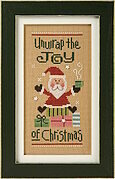 Unwrap the Joy Santa 2012 - Cross Stitch Pattern