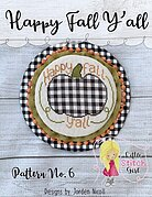 Happy Fall Y'all - Thanksgiving Cross Stitch Pattern