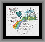 Heaven's Kitty Door (Multiple Cats) - Cross Stitch Pattern