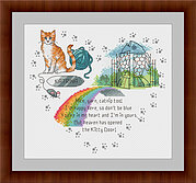Heaven's Kitty Door (Ginger & White) - Cross Stitch Pattern