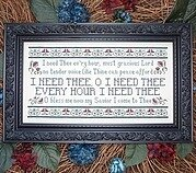 I Need Thee Every Hour - Cross Stitch Pattern