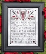 Armor of God - Cross Stitch Pattern