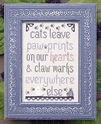 Cats Leave Paw Prints - Cross Stitch Pattern