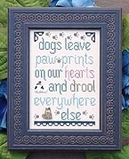 Dogs Leave Paw Prints - Cross Stitch Pattern