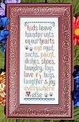 Kids Leave Handprints - Cross Stitch Pattern