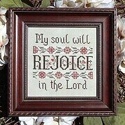 My Soul Will Rejoice - Cross Stitch Pattern