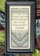 Let Not Your Heart Be Troubled - Cross Stitch Pattern