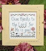 Give Thanks to the Lord - Cross Stitch Pattern