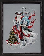 Winter White Santa - Mirabilia Cross Stitch Pattern