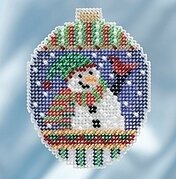 Snowman Greetings - Beaded Cross Stitch Kit