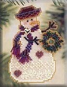 Wreath Snow Charmer - Beaded Cross Stitch Kit