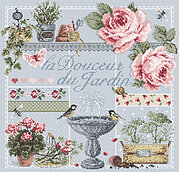 La Douceur du Jardin (Garden Sweetness) Cross Stitch Pattern