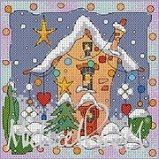 Festive Village House - Cross Stitch Pattern