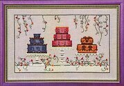 Garden Party Cakes - Cross Stitch Pattern
