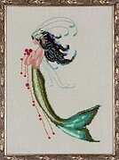 Mermaid Verde - Cross Stitch Pattern