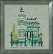 Victorian House - Holiday Village - Cross Stitch Pattern