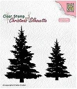 Fir Trees Silhouette - Nellie's Choice Clear Stamp