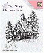 Snowy House 2 - Nellie's Choice Clear Stamp