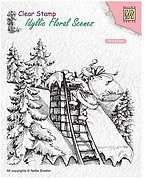 Santa Claus at Work - Nellie's Choice Christmas Clear Stamp