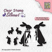 Rabbits - Silhouette Clear Stamp