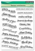Banner Sentiments - Clear Stamp