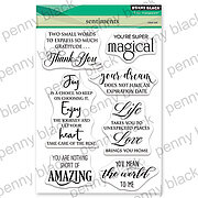 Sentiments - Penny Black Clear Stamp