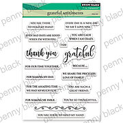 Grateful Sentiments - Penny Black Clear Stamp