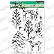 Oh Deer - Christmas Penny Black Clear Stamp