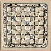 Quaker Game Board - Cross Stitch Pattern