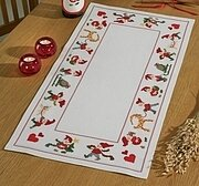 Happy Santas Table Runner - Cross Stitch Kit