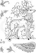 Stag - Pink Ink Designs Christmas Clear Stamp