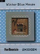 Winter Blue House - Smidgen - Cross Stitch Pattern