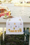 Chicks & Eggs Table Runner - Cross Stitch Kit