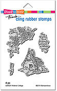 Wisteria Cottage - Cling Rubber Stamp