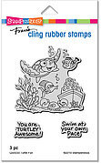Turtle Fun - Cling Rubber Stamp
